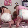 What a fun day! Little diapered hottie Emily and good friend, Natalia, are both diapered and hanging out in the nursery playing with toys. Soon enough they start looking for […]