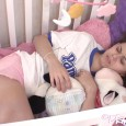 Bailey is sooo sleepy. She's laying in the crib and is getting ready to go nigh-night. She cutely cuddles with her stuffed animal and plays with the mobile while getting […]