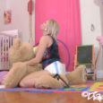 Olivia is so dang cute and the way she fucks her favorite teddy bear…WOWWW!