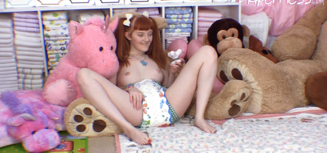 Krystal is such a cute, natural little adult baby! And she is having so much fun playing with toys in the nursery! Then suddenly she comes across a vibrating massage […]